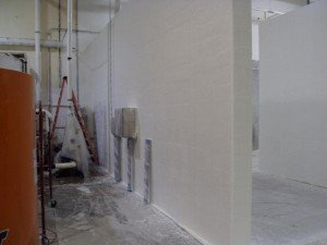 TMI Coatings Contracted To Fiberglass Walls And Partitions In Sanitation Room