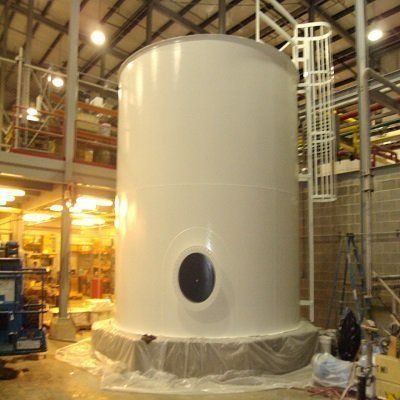 TMI Lines Tank To Protect From Corrosion, Beautiful White!