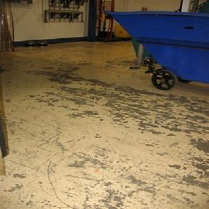 TMI Coatings Removes Peeling Paint From Concrete Floor