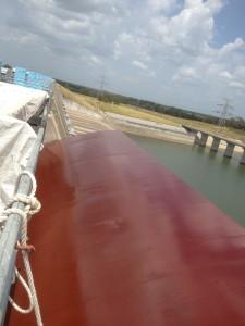 Coal Tar Epoxy coating on Spillway Gates