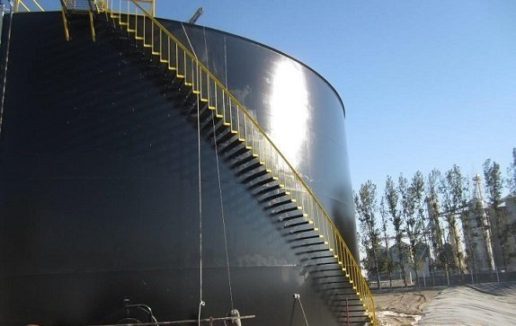 TMI Sandblasts, Primes and Installs Logo on Steel Tank
