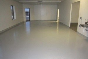 New Concrete Floor Coated 7 Days After Poured