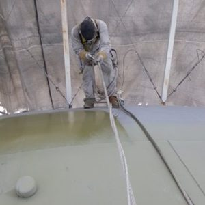 Zinc Primer On Water Tower In Richfield