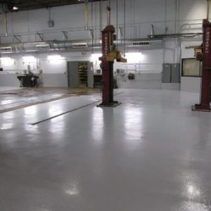 Maintenance Shop Flooring In City Bus Terminal