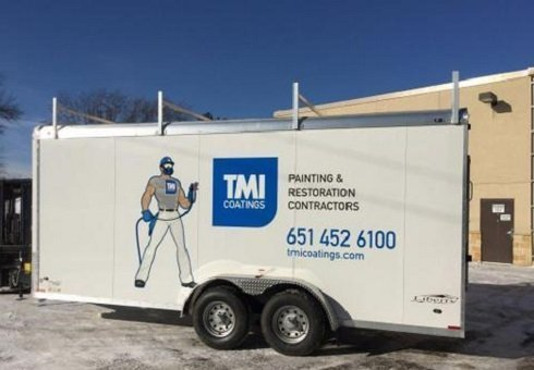 TMI Man Painted On A Trailer Of TMIs