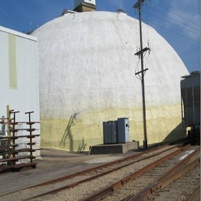TMI Coatings Works On Salt Storage Dome.