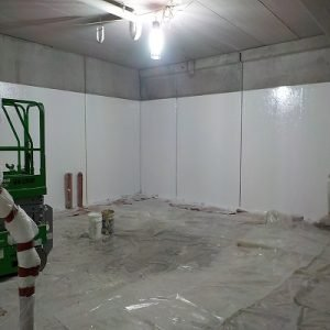 TMI Coatings FIBERLIFE Application To Food Processing Walls