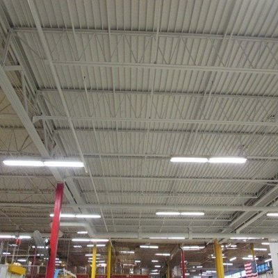 Photo from TMI Coatings project of Donaldson Company ceiling.