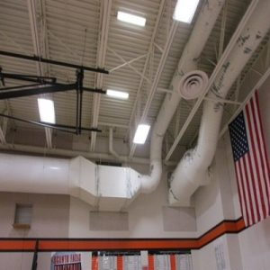 School Gym Ducting And Pipe Painting