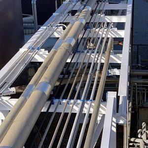 Molasses Pipe Bridge Coating