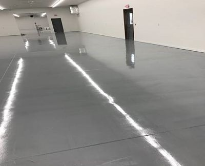 Manufacturing Floor After new floor coating
