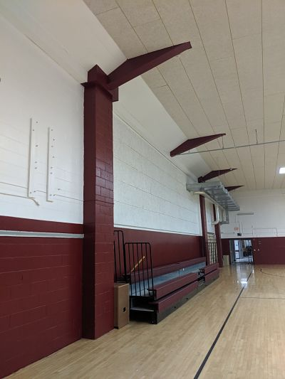South Hamilton School Gym Painted By TMI Coatings