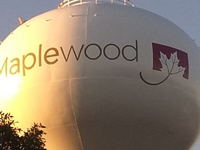 City Of St. Paul Sterling Logo Of Maple Wood Water Tower Painted By TMI Coatings
