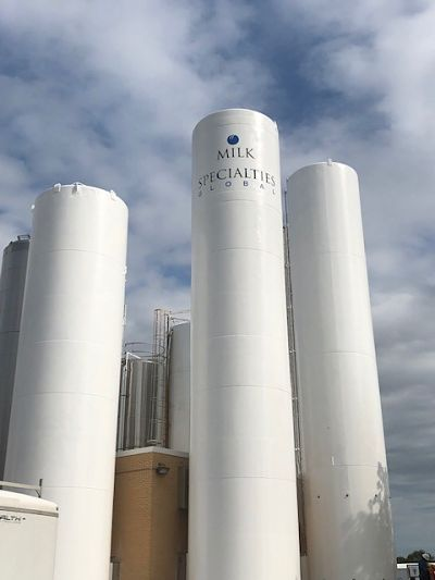 Milk Specialties After TMI Coatings Painted The Silo.
